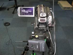 ビデオカメラと無線マイク