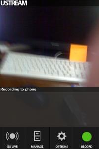 こちらが、Localモード。動画はiPhoneに一端保存されます