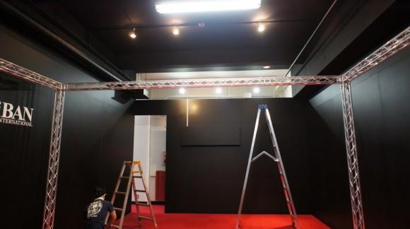 ▲黒スタジオの後部には、2FのPAルームが設営される予定です