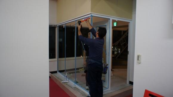 ガラスの透明度がないので、工夫しないと、ぶつかる人が出そうです。