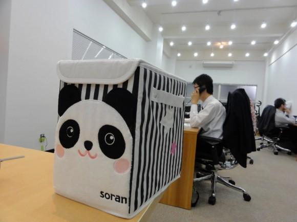 袋から出して組み立てたら、パンダ柄の収納ボックス(折りたたみ可能)でした。