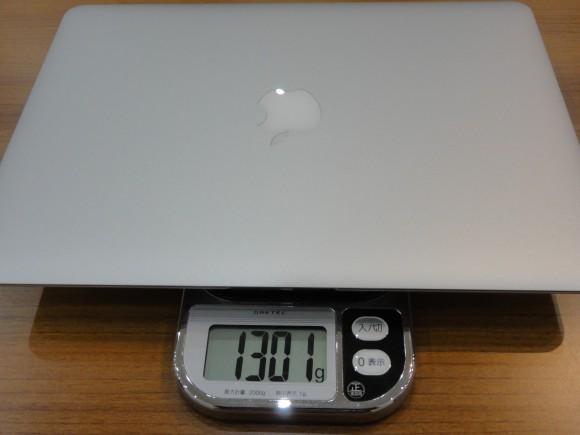 Mac Book Airの重さをはかってみた
