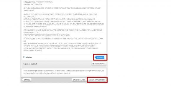 ▲必要事項を入力し「SUBMIT APPLICATION」をクリック。