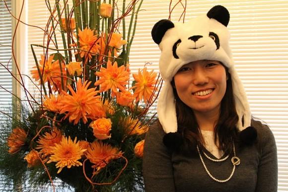 ▲プレゼント「パンダのかぶりもの」