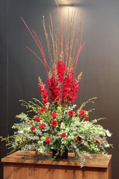 パンダスタジオのエントランスのお花(2011/01/17)その1