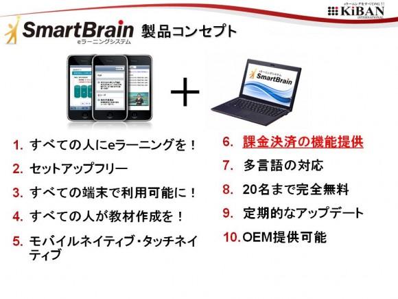 eラーニングシステム SmartBrain(スマートブレイン)の開発コンセプト10