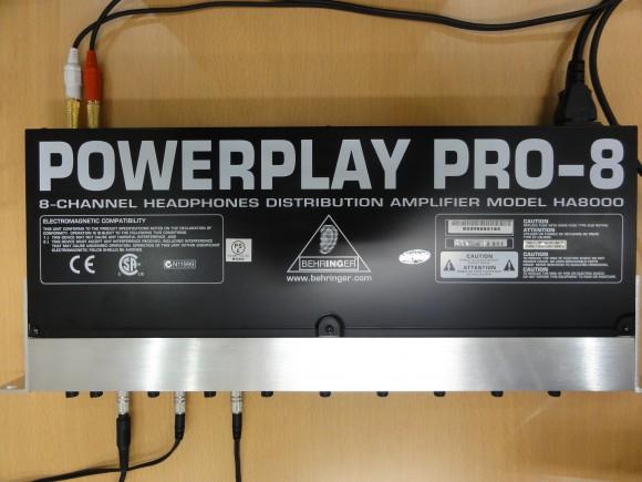 ヘッドフォン用の音声の分配に便利な機材 、BEHRINGER ( ベリンガー ) / HA8000 Powerplay Pro-8