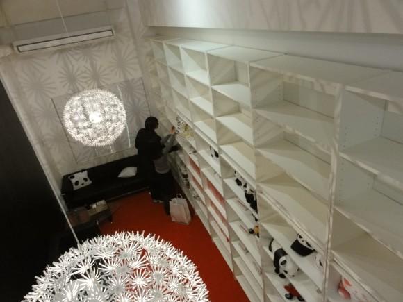 バックヤードにおいてあった書籍をパンダスタジオ・ライブラリーに移動させました