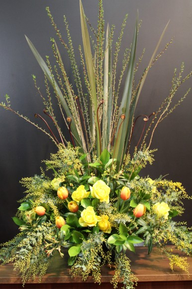 The Flower Storiesの小山大蔵さんのフラワーデザイン 2011月02年07日 in パンダスタジオ(写真1)