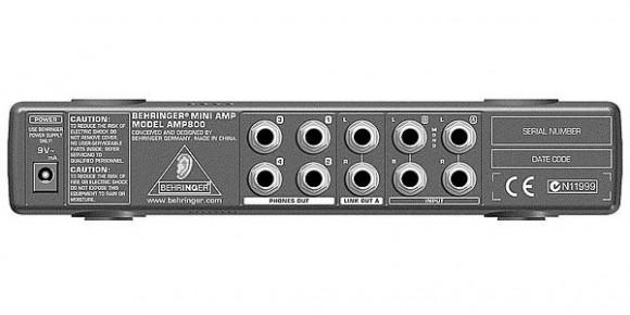 BEHRINGER ( ベリンガー ) / AMP800 MiniAMP リアパネル