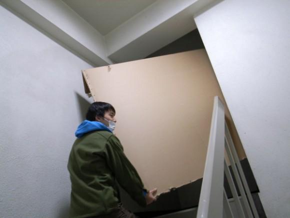 階段の取り回しがかなりきびしいことが判明