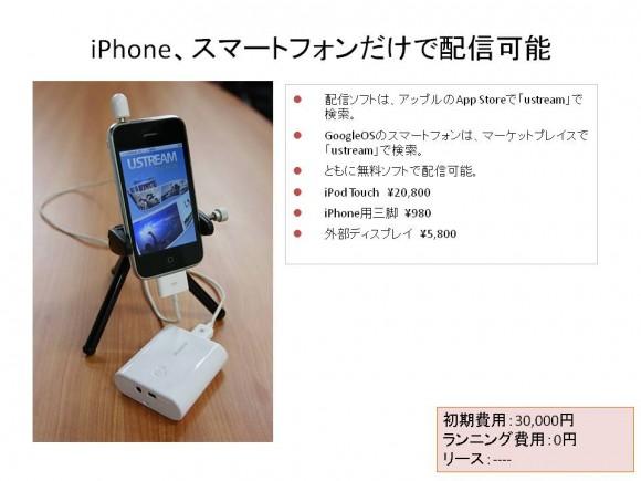 ▲iPhone・スマートフォンだけで配信可能