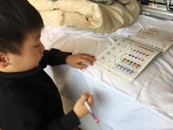 一日の始まりは勉強から 幼児学習