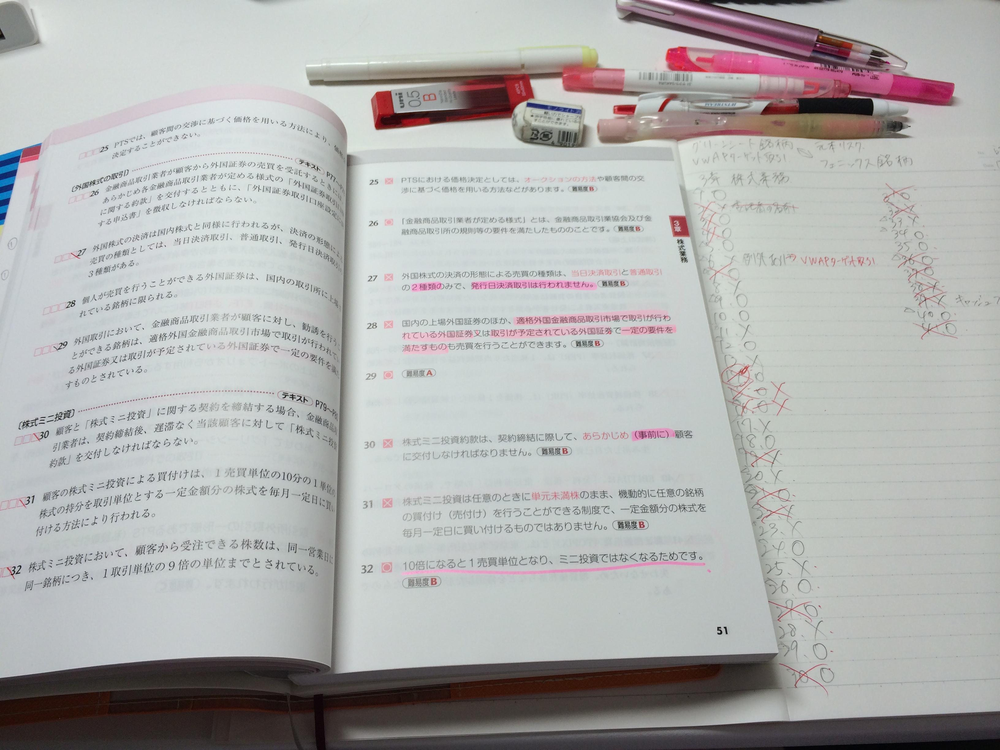 証券外務員資格試験/一種二種/試験問題と勉強法