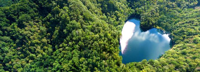 北海道 豊似湖「ハートレイク」